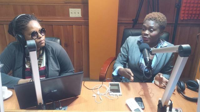 Soinette Desir, L'Union des Femmes à Mobilité Réduite, is interviewed by Radio Pacific, Haiti