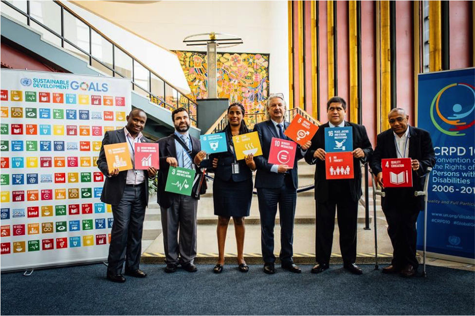 At the UN: Ambrose Murangira, Mohamed Loutfy, Yetnebersh Nigussie, Colin Allen, José Maria Viera, Abdulmajid Makni