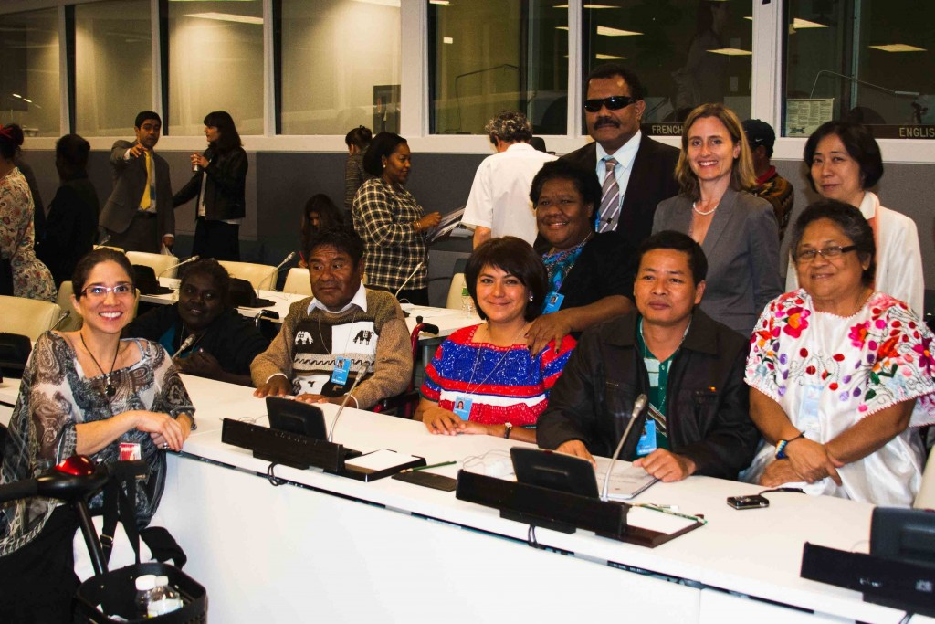 DRF staff, grantees, and allies at the UN Permanent Forum on Indigenous Issues
