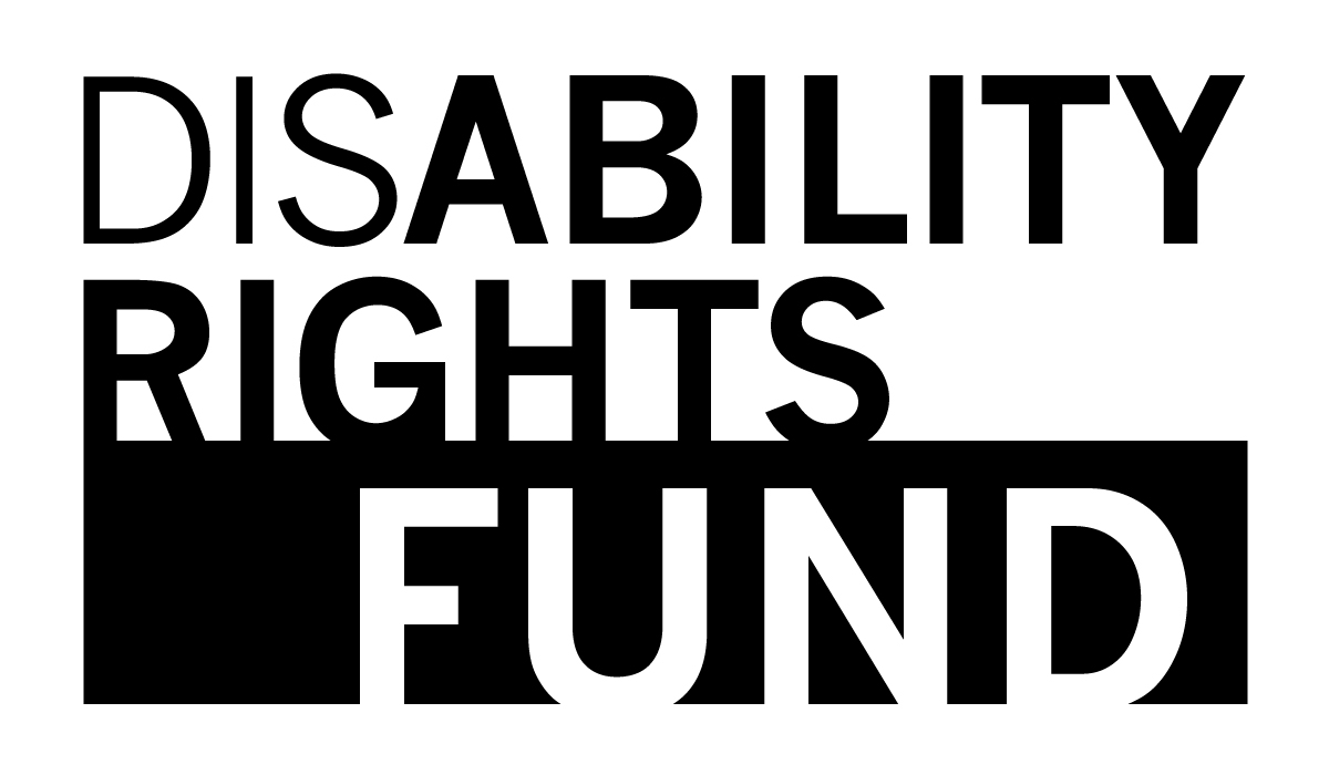 The Disability Rights Fund logo is our name with ability and rights bolded. It is black and white, underscoring this issue as a matter of right and wrong.