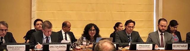 Rosa Damayanti speaking on panel