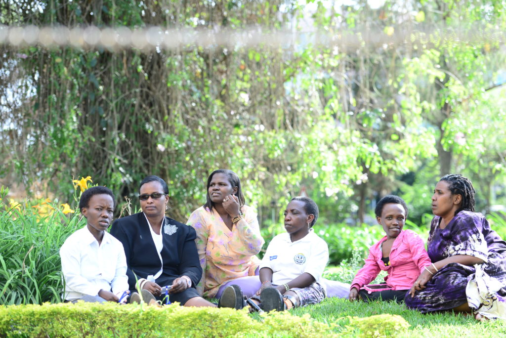 Group of women with disabilities from Rwanda