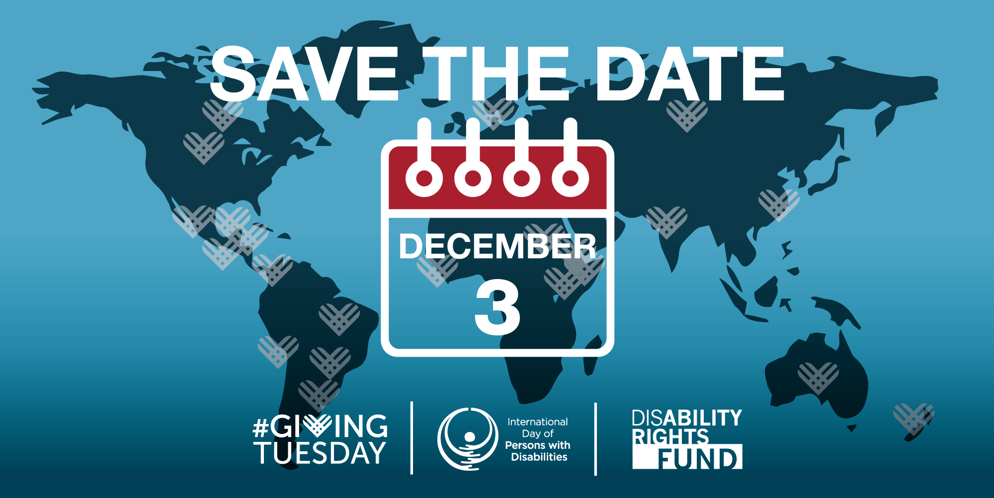 Save the Date for December 3rd Giving Tuesday and International Day of Persons with Disabilities Event