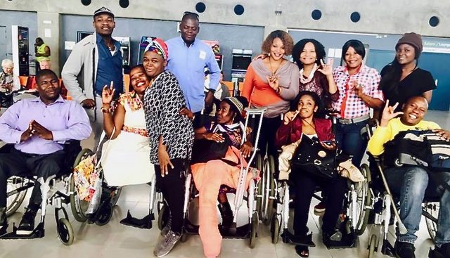 Group of leaders from Disabled Persons Organizations on their journey to the United Nations, Geneva